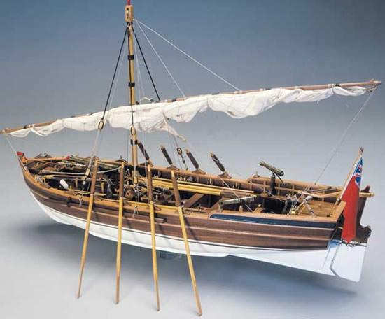 """Panart Armed Pinnace """"Lancia Armata"""" 1803 Wooden Ship Kit Scale 1:16"""
