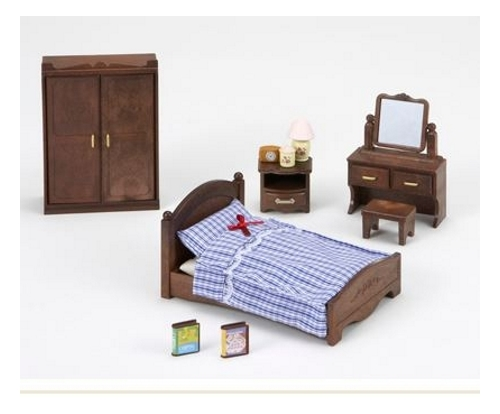 Sylvanian families master bedroom furniture set 5039 for Sylvanian classic furniture set