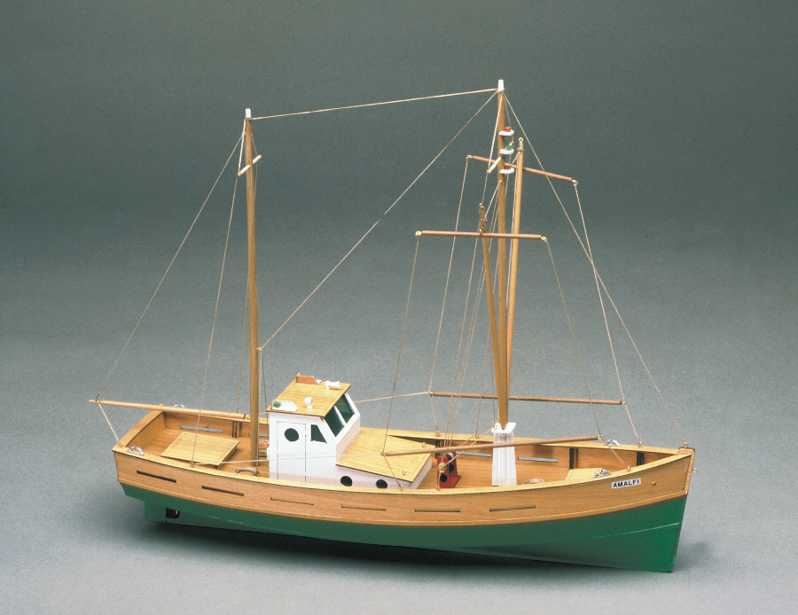 Mantua Amalfi Fishing Boat 1:35 Scale Wood Ship Kit | eBay
