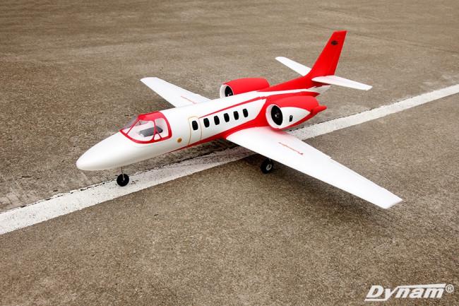 Dynam Cessna 550 Citation Electric RC Jet V2 Retracts ARTF (no Tx/Rx/Bat) -Red