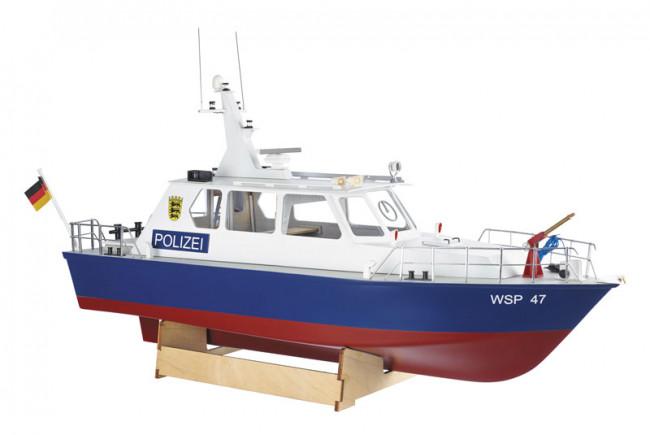 Krick Radio Control Police Motor Launch 1:20 Scale Model Boat Kit