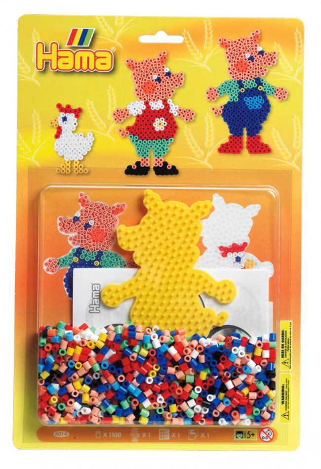 Pigs Midi Hama 1100 Bead Boxed Gift Set