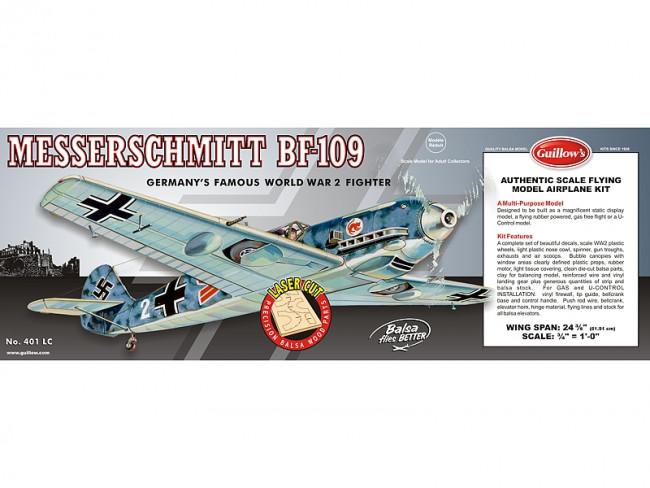 Messerschmitt BF-109 Flying Model Balsa Aircraft Kit 619mm Wingspan from Guillow's