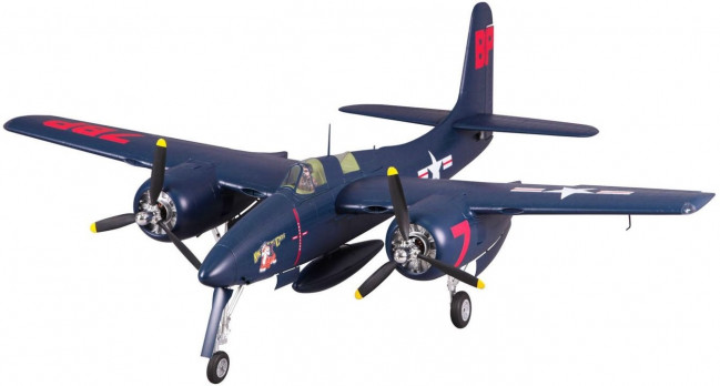 FMS F7F Tigercat RC Warbird 1700mm, Retracts, Lights ARTF no Tx/Rx/Bat