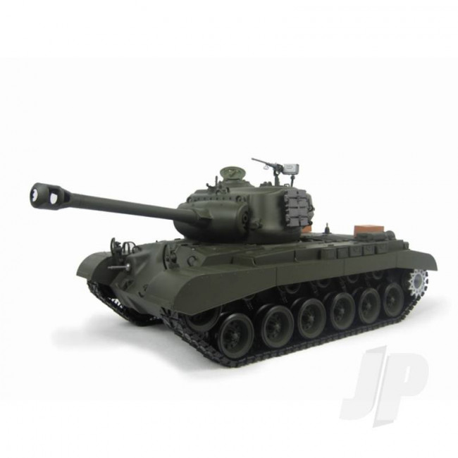 Henglong 1:16 US M26 Pershing RC Tank Shoots Plastic BB's with Smoke and Sound