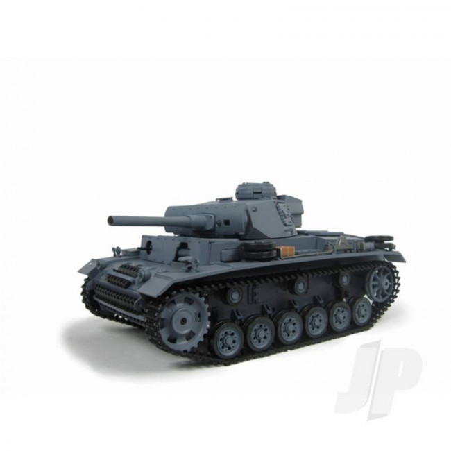 Henglong 1:16 German Panzer III RC Tank Shoots Plastic BB's with Smoke and Sound