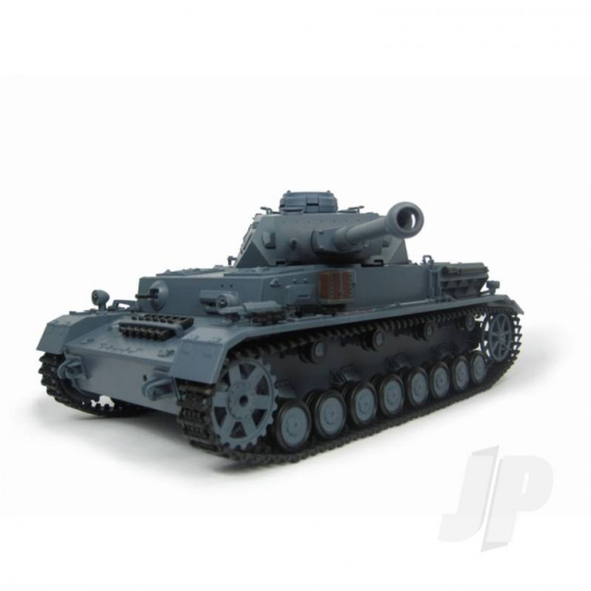 Henglong 1:16 German Panzer IV F2 RC Tank Shoots Plastic BB's with Smoke and Sound