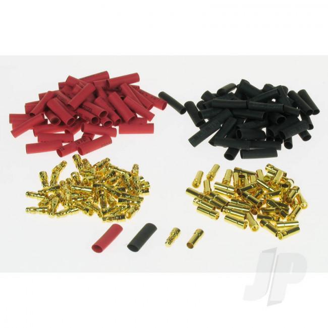 JP 3.5mm Gold Connector Bulk (50 Pairs + Shrink) for RC Models