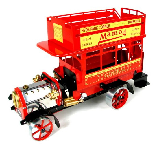 Working Live Steam Mamod 1920's Red London Omnibus LB1R, Ready To Run - Superb!