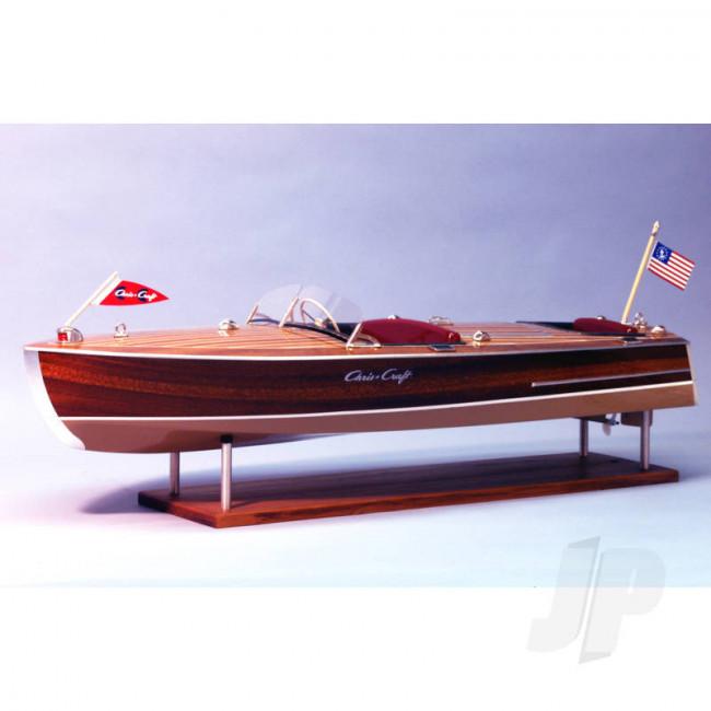 """Dumas 1/8 1949 Chris-Craft 19' Racing Runabout 28"""" (1249) Wooden Ship Kit"""