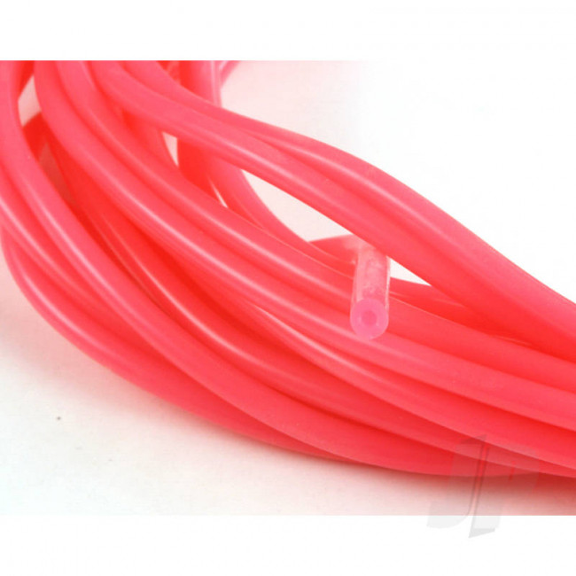 JP 2mm (3/32) Silicone Fuel Tube Neon Pink 10m For RC Model