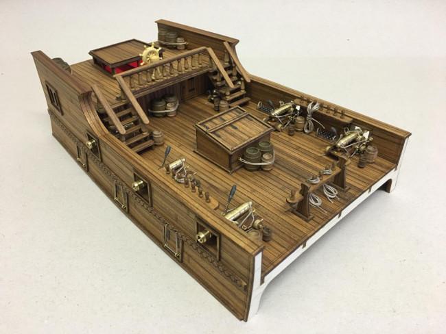 Mantua 18th Century Main & Mizzen Command Deck Wooden Ship Kit 1:54 Scale
