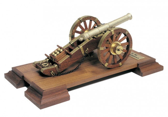 Napoleonic 12 Pounder 18th Century Cannon Mantua Wood Construction Kit 1:17 Scale 110x210mm