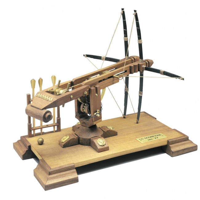 Scorpion Double Crossbow 16th Century Mantua Wood Kit 1:17 Scale 110x210mm