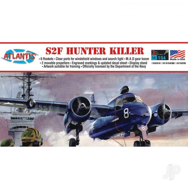 Atlantis Models 1:54 US Navy Grumman S2F-1 Sub Hunter-Killer Plastic Plane Kit