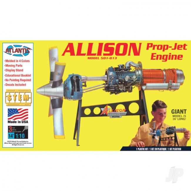 Atlantis Models 1:10 Allison Prop Jet 501-D13 Engine Plastic Model Kit