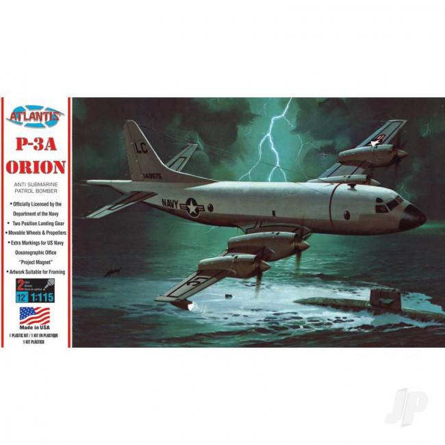 Atlantis Models 1:115 Lockheed Electra P-3A Orion US Navy Plastic Model Kit