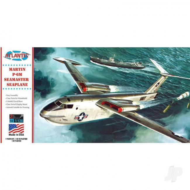 Atlantis Models 1:136 Martin P6M SeaMaster Seaplane Plastic Model Aircraft Kit