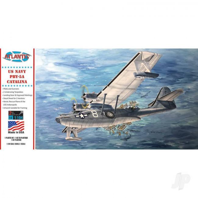 Atlantis Models 1:104 Consolidated PBY-5A Catalina Seaplane Plastic Aircraft Kit