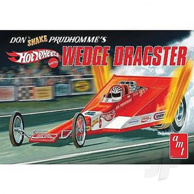 "AMT 1:25 Don ""Snake"" Prudhomme Wedge Dragster Hot Wheels Plastic Car Kit"