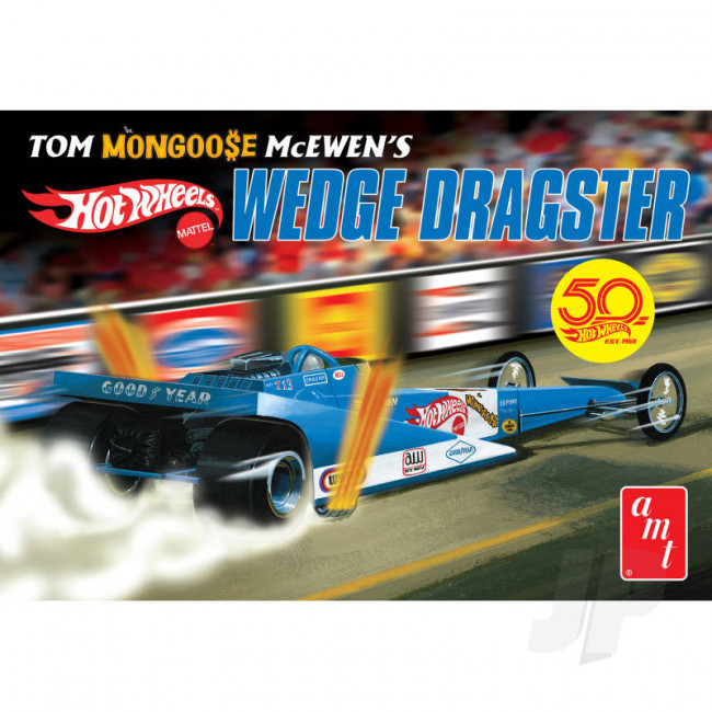 "AMT 1:25 Tom ""Mongoose"" McEwen Fantasy Wedge Dragster Plastic Car Kit"