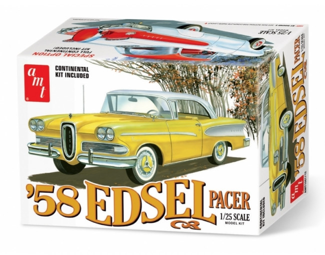 1958 Edsel Pacer 60 Year Anniversary - Highly Detailed 1:25 Scale AMT Plastic Kit