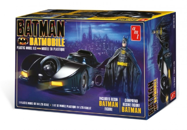 1989 Batmobile with Resin Batman Figure 1:25 Scale AMT Highly Detailed Plastic Kit