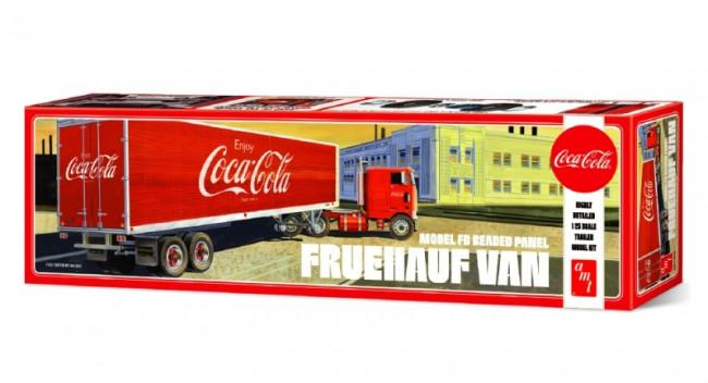 Fruehauf FB Beaded Panel Coca-Cola Trailer 1:25 Scale AMT Detailed Plastic Kit