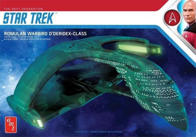 Star Trek Romulan Warbird D'Deridex Class Battle Cruiser - AMT 1:3200 Scale Plastic Kit