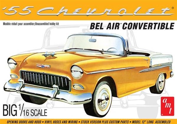 AMT 1955 Chevy Bel Air Convertible - BIG 1/16 SCALE! Plastic Kit Car Model American