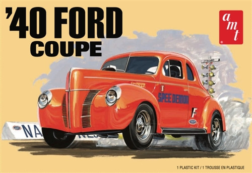 AMT 1940 Ford Coupe Stock - Custom - Racing 1:25 Car Plastic Kit