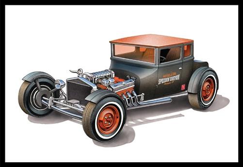 AMT 1:25 1925 Ford Model T Chopped Car   2 Plastic Kits in 1!   Rat/Hot Rod