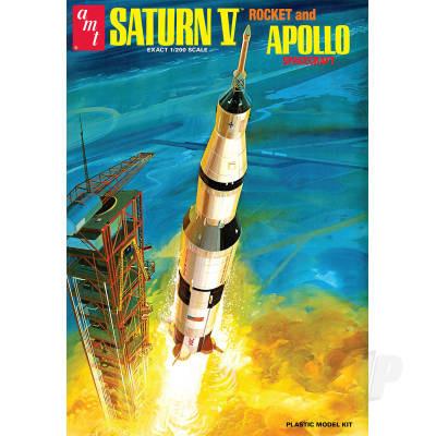 AMT 1:200 NASA Saturn V Rocket Space Plastic Kit Model