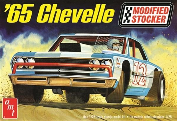 AMT 1:25 1965 Chevy Chevelle Modified Stocker Plastic Kit Car Model American