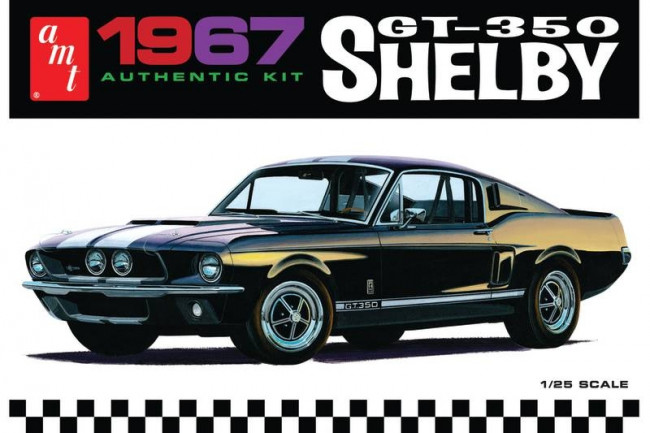 1967 Shelby GT-350 Mustang 1:25 Scale Authentic AMT Detailed Plastic Kit