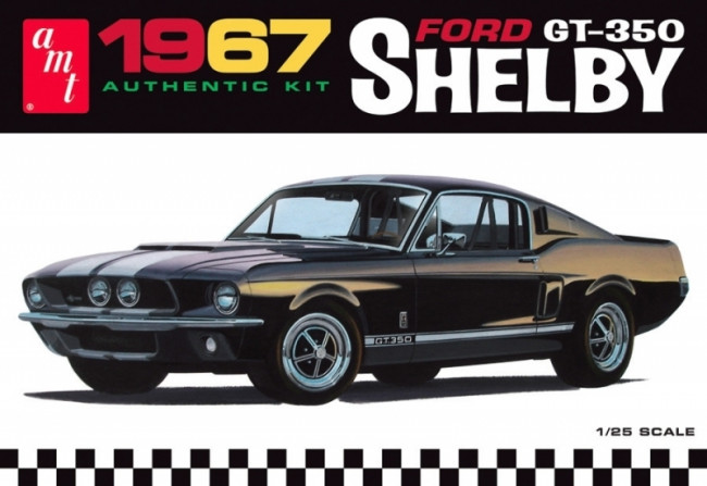 1967 Shelby Mustang GT-350 1:25 Scale AMT Detailed Plastic Kit