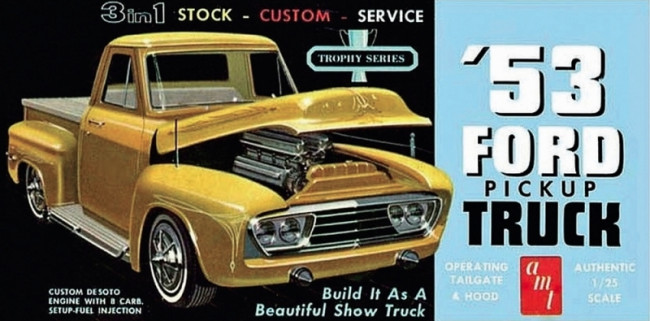 1953 Ford Pickup Truck 1:25 Scale AMT Detailed Plastic Kit
