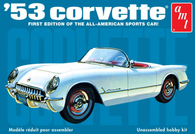 1953 Chevy Corvette 1:25 Scale AMT Detailed Plastic Kit