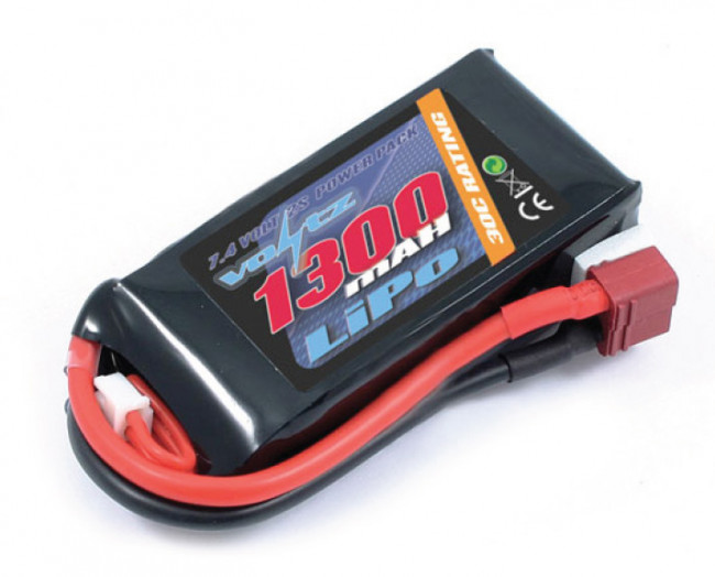 Voltz 1300mAh 2S 7.4v 30C LiPo Battery Pack