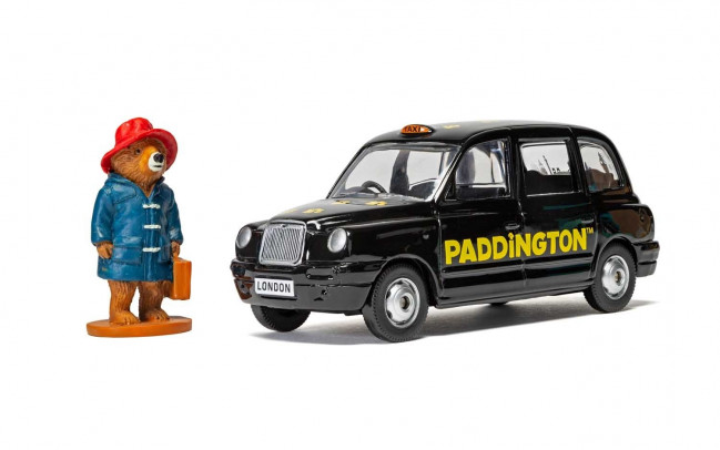 Paddington Bear Figure with London Taxi 1:36 Scale Corgi Diecast Metal Model