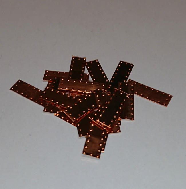5x15mm Copper Tile Plates for Model Ship Hull Kits (Pack of 100)