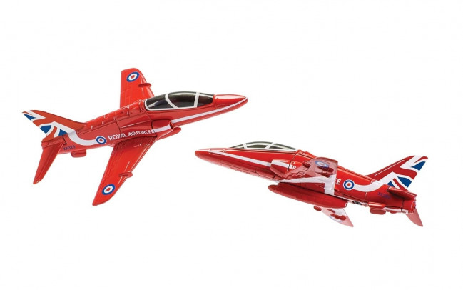RAF Red Arrows Synchro Pair Diecast Model Aeroplane Corgi Aviation Showcase CS90687