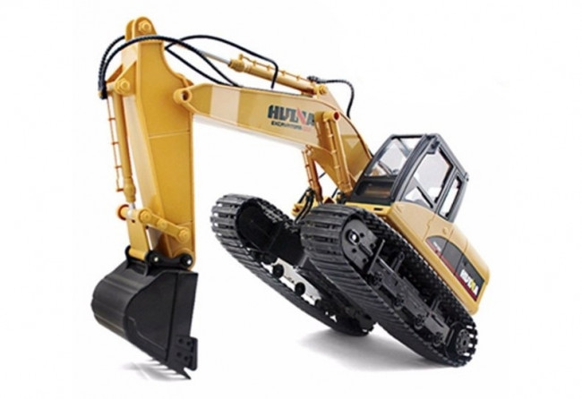 Large 1/14th Scale 15 Channel RC Excavator with Metal Bucket, Lights & Sound