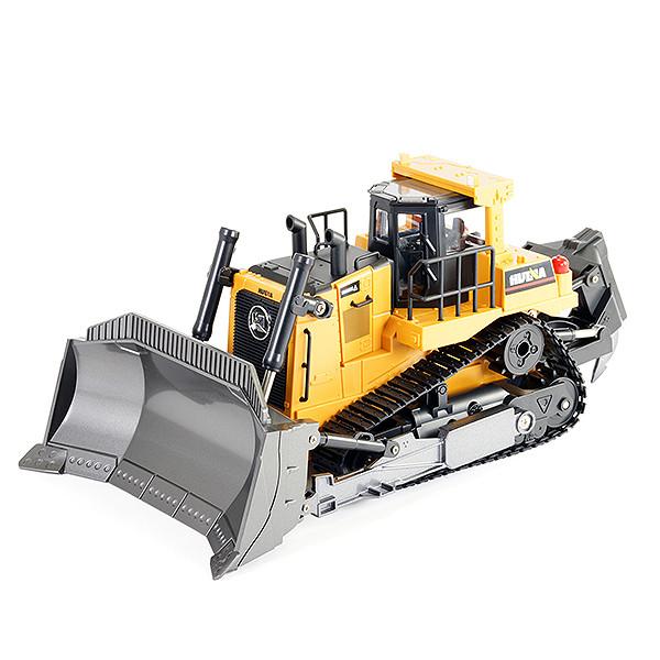 Huina 1:16 RC Bulldozer w/ Sound & Diecast Metal Parts