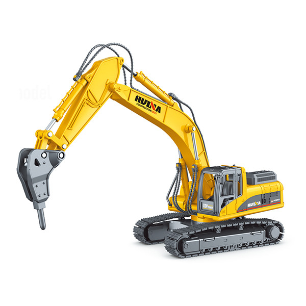 Huina 1/50 Diecast Drill Excavator Static Model Construction Vehicle