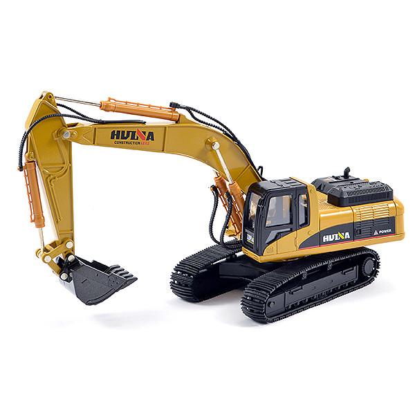 Huina 1/40 Diecast Excavator Static Model Construction Vehicle