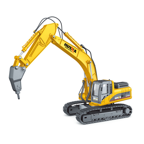 Huina 1/40 Diecast Drill Excavator Static Model Construction Vehicle