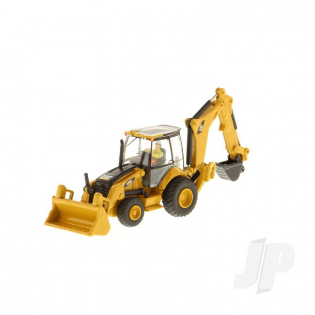 1:87 Cat 450E Backhoe Loader, Diecast Scale Construction Vehicle
