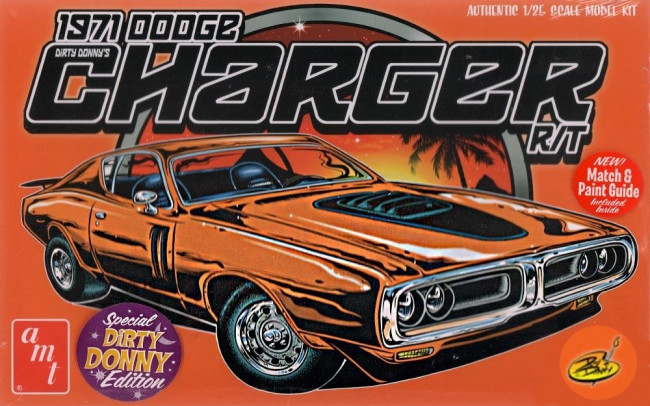 Dirty Donny 1971 Dodge Charger R/T 1:25 Scale AMT Detailed Plastic Car Kit
