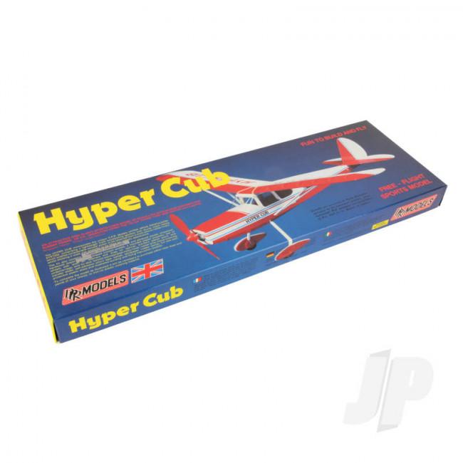 DPR Hyper Cub Rubber Powered Freeflight Balsa Model Aircraft Kit